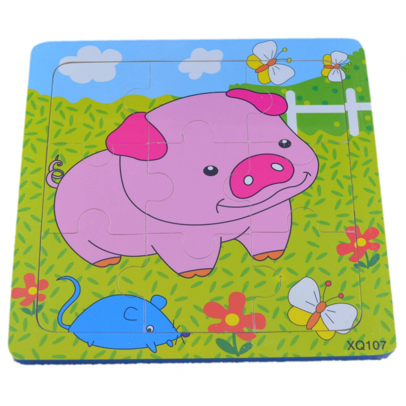 Puzzle pour enfant 'Cochon' - Em création