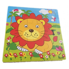 "Puzzle de la jungle ""Le lion"""