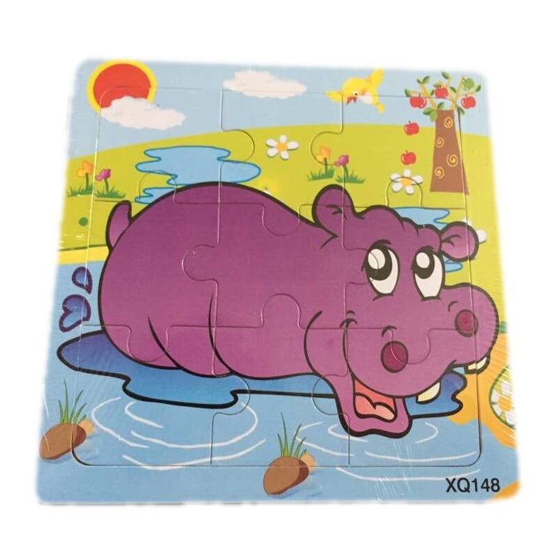 Puzzle pour enfant 'Hippopotame' Em création