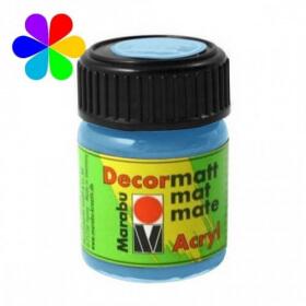 Bleu clair peinture décormatt - 15 ml - Marabu