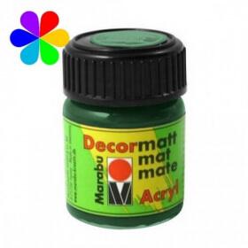 Vert foncé peinture décormatt - 15 ml - Marabu - Em création