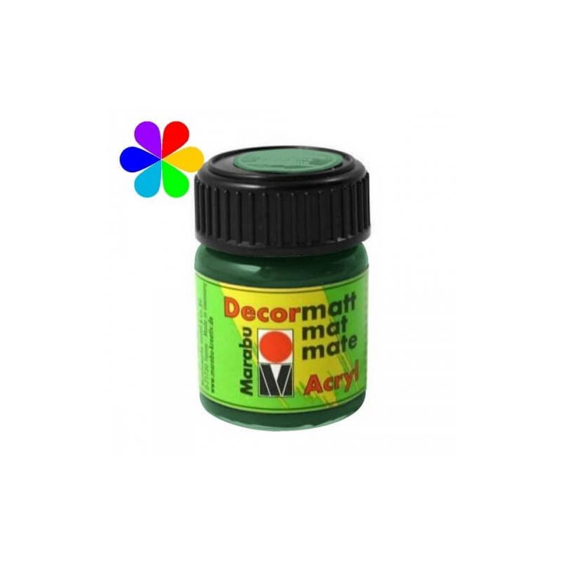 Vert foncé peinture décormatt - 15 ml - Marabu