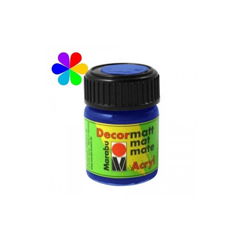 Bleu moyen peinture décormatt - 15 ml - Marabu