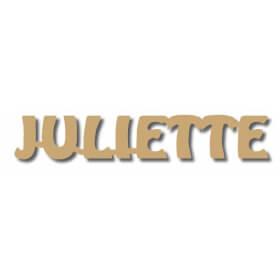 Prénoms en bois à peindre Juliette - Em création - Em création