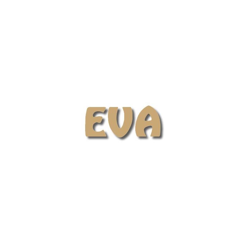 Prénoms en bois à peindre Eva - Em création
