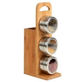 Porte ustensiles et 3 pots à épices - Em création - Em création