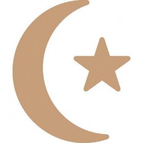 Lune, étoile de noël à décorer - Em création