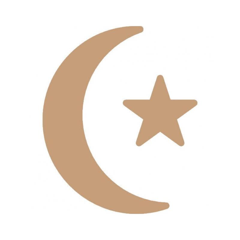 Lune, étoile de noël à décorer