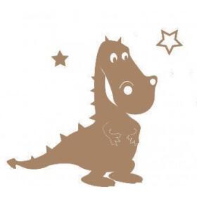 Support en bois à peindre dinosaure - Em création - Em création