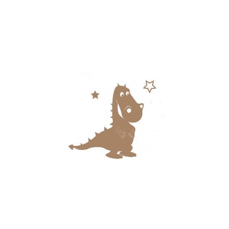 Support en bois à peindre dinosaure - Em création